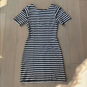 French Connection Black & White Striped Dress